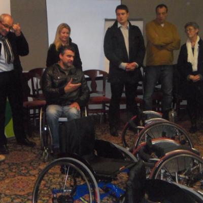 Remise de fauteuil Regina Berck - 12 decembre 2014