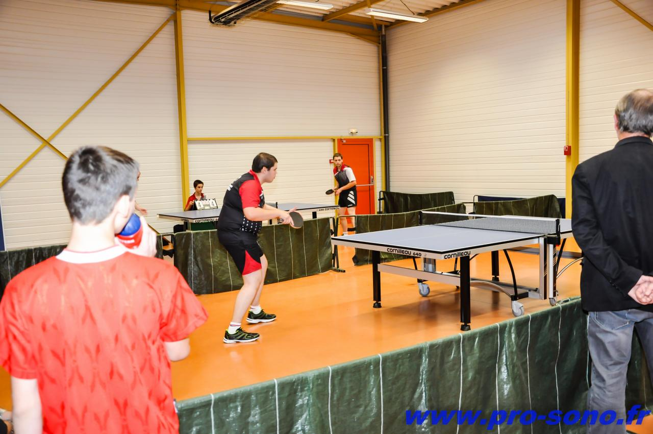 Tennis de table animé par le club auxilois