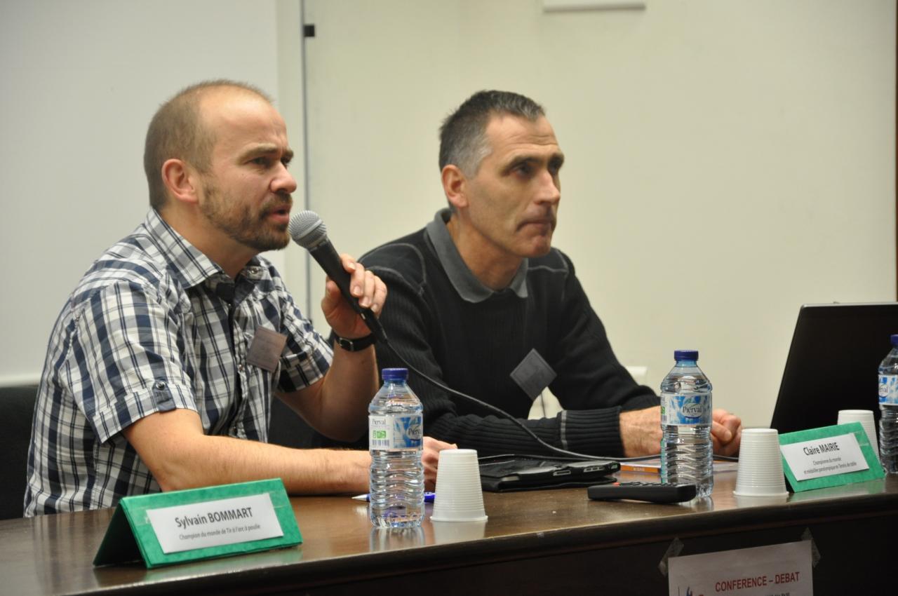 Philippe CUVILLIER (à droite) et son guide