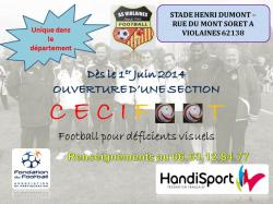Affiche section cecifoot