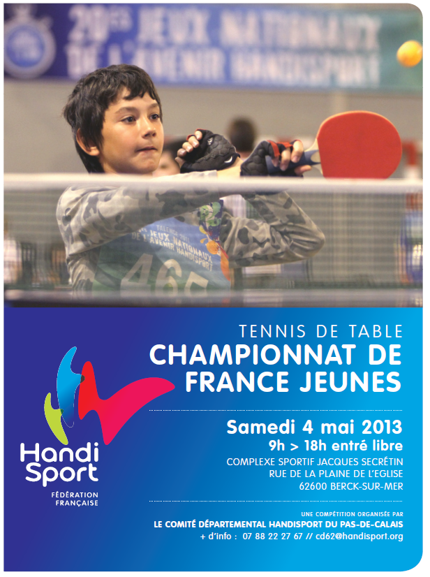 Championnat de france de tennis de table jeune berck 4 - Comite departemental de tennis de table ...