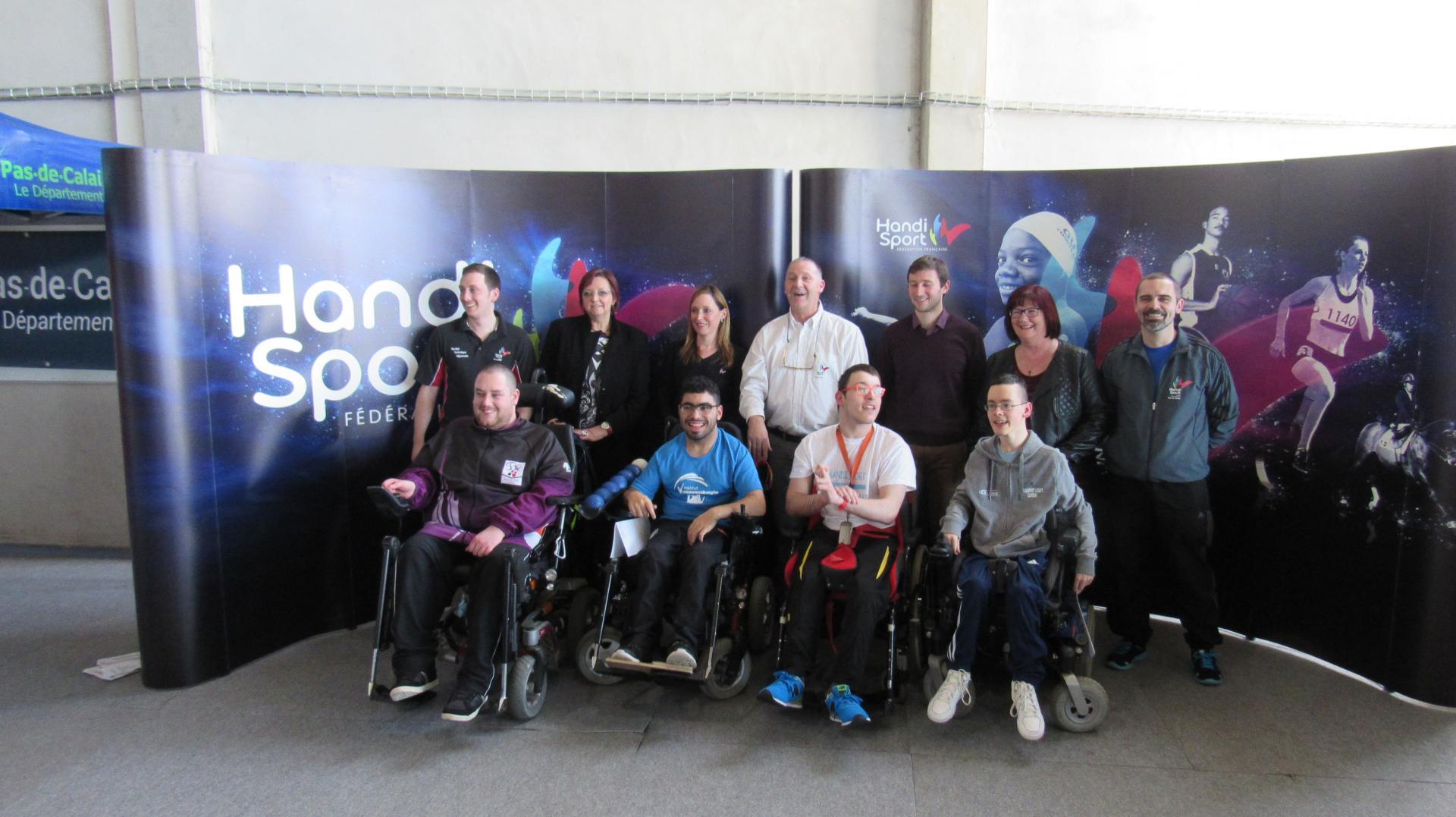 Le Comité d'Organisation avec les 4 champions de France